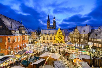 Weihnachtswald in der Kaiserstadt Goslar
