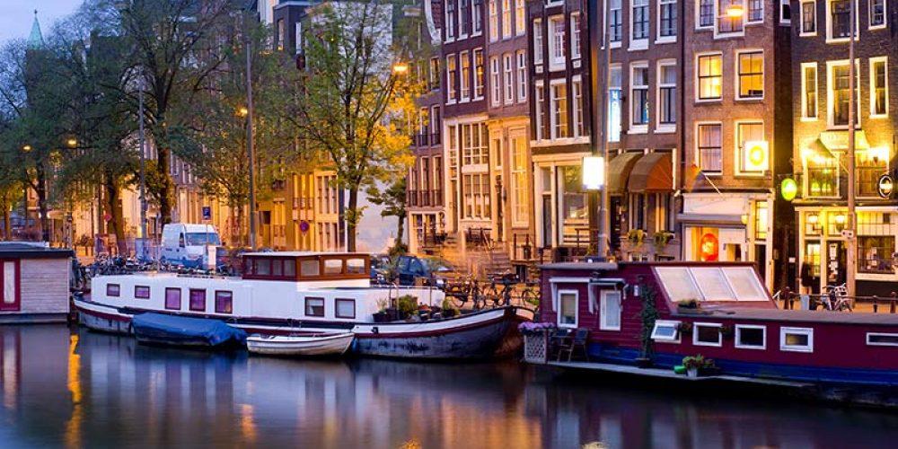 Die historische Altstadt Amsterdams