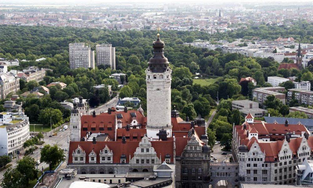 Leipzig auf die Dächer geschaut