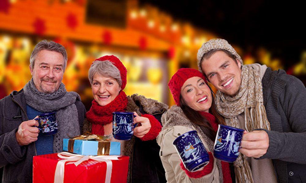 auf dem Weihnachtsmarkt